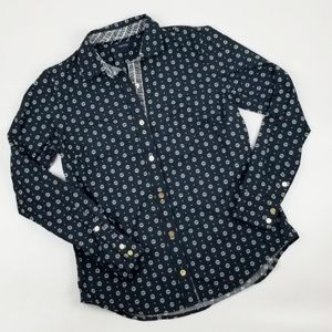 {Nautica} Long Sleeve Blue Button Down Top